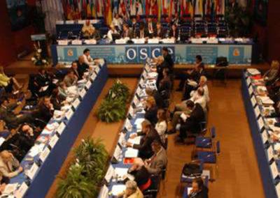 Reunión de la OSCE. Palacio de Congresos de Córdoba.