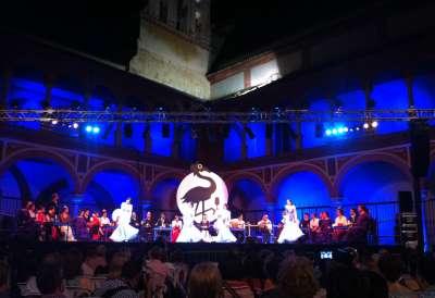 Noche Blanca del Flamenco. Plaza del Compás de san Francisco. Córdoba.