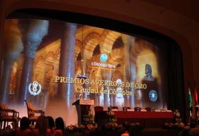 Premios Averroes de Oro. Palacio de Congresos de Córdoba.